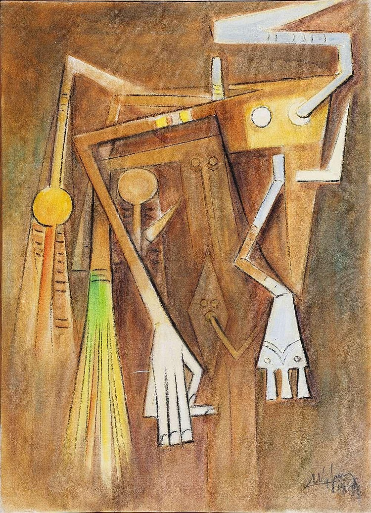 Wifredo LAM (1902-1982)-Untitled, 1969