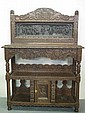 VICTORIAN CARVED OAK BUFFET, in 17th century style