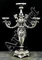 A Victorian silver plated epergne, the central
