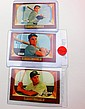 1955 BOWMAN BASEBALL CARD LOT (3 YANKEES) YOGI BERRA, MOOSE SKOWRON, AND HANK BAUER