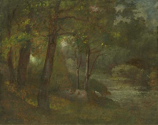 George Inness, (American, 1825-1894), The Brook, c. 1877