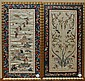 * A Pair of Chinese Embroidered Panels, Height 19 x width 8 inches.