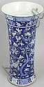 Blue and White Porcelain Tapered Vase