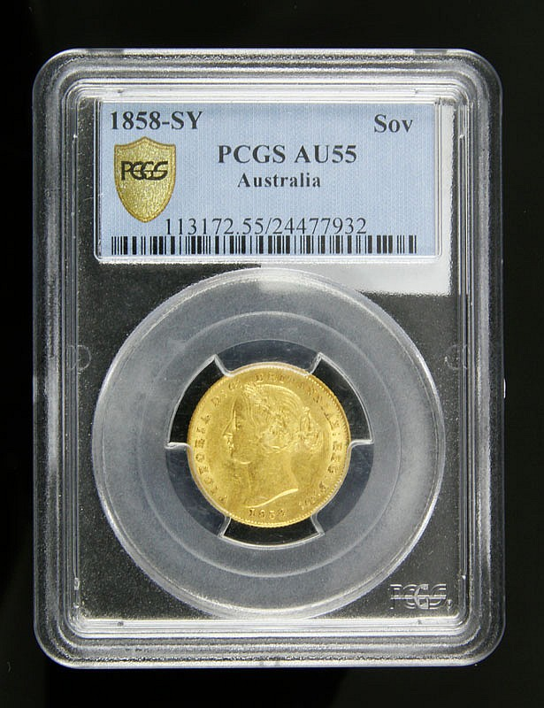 1858 Australian Gold Sovereign