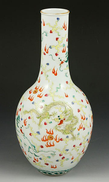Chinese 19th C. Famille Rose Vase