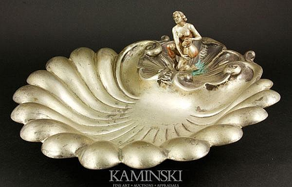 Shell-shaped Silver Bowl