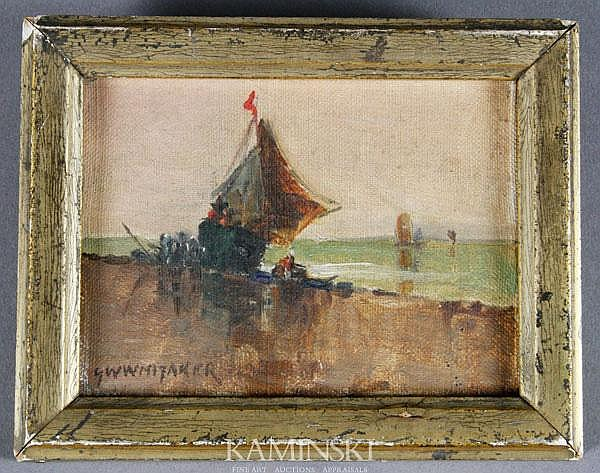 Whitaker, Fishing Boats Near Shore, O/C