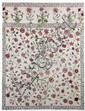 An embroidered coverlet section, English in
