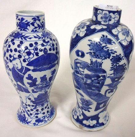 Two 19th Century Chinese baluster Vases each