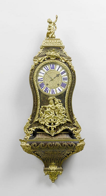 A BOULLE CLOCK ON PLINTH, Régence, Paris, 18th c.