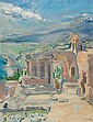 SLEVOGT, MAX (Landshut 1868 - 1932 Neukastel) The theatre in Taormina. 1914., Max Slevogt, Click for value