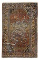 HAMADAN antique.Rust coloured ground with stylized