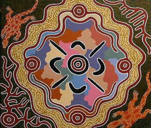 Michael Nelson Tjakamarra - Untitled 107 x 99cm