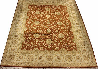 EXTREMELY FINE PURE SILK TABRIZ DESIGN CARPET,