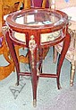 BIJOUTERIE TABLE, circular in French style with ormalu mounts, 52cm diam.