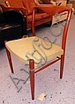 DINING CHAIRS, a set of eight, 1960's teak with
