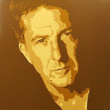 RAY SUTTON, 'Dustin Hoffman', acrylic on canvas,