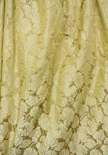 CURTAINS, with swags and tails, bronzed gold with