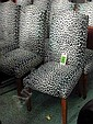 DINING CHAIRS, a set of eight, in a leopard effect fabric. (8)