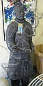 TERRACOTTA CHINESE SOLDIER, in a black finish,