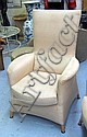 WHITTMAN ARMCHAIRS, a pair, in neutral fabric,