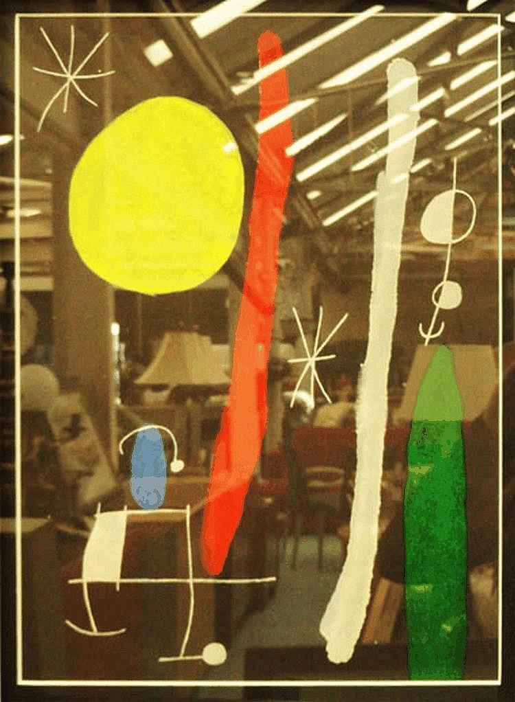 AFTER JOAN MIRO, 'Composition', lithograph, 39cm x