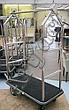 LUGGAGE TROLLEY, from Playboy Club, in chrome on