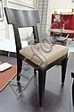 PHILIPPE HUREL DINING CHAIRS, a set of ten, dark