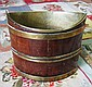 BUCKET, George III mahogany and brass bound of