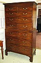 CHEST ON CHEST, George III mahogany with two short