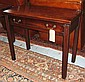 TEA TABLE, George III figured mahogany, the solid