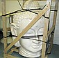 BUDDHA HEAD, of large proportions, terracotta, in