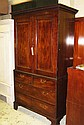 LINEN PRESS, George III figured mahogany, the