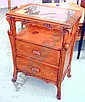 BEDSIDE UNITS, a pair, 'Libertine', in cherrywood, in Art Nouveau style, 51cm W. (2)