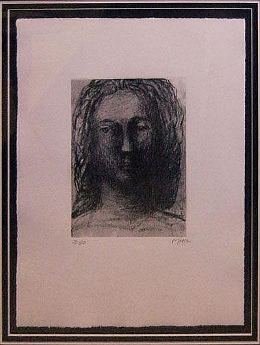 HENRY MOORE OM CH (1898-1986), 'Head of Girl II',