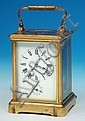 An early 20th Century carriage clock, the white