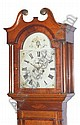 A VICTORIAN OAK AND MAHOGANY EIGHT-DAY LONGCASE