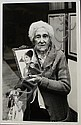 Paz Errazuriz b&w; photo of older woman holding a photo of her younger self