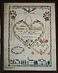 1852 Fraktur watercolor Mary J Solenday Unity