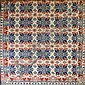 Tri-color coverlet signed Andrew Hoover, W. Hanover 1841  B Backer