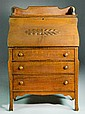 Antique Drop Front Secretary Desk with 3 Drawers