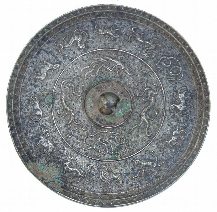 ANTIQUE CHINESE BRONZE MIRROR