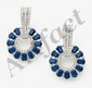 Paire de beaux pendants d'oreilles