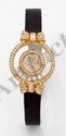 CHOPARD. Montre de dame Happy Diamonds,