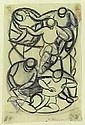 Ackermann, Max: Figures composition, 1917. Pencil/paper. Signed, dated. Berlin, 1887 -  Stuttgart, 1975 27 x 18 cm, R. E600 EUR