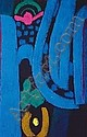 Ackermann, Max: 2 graphic works: Composition in blue, 1973. Signed, dated, 107/150.  Composition in green and pink, 1969. Silkscreen print  Signed, dated, 99/100. Berlin, 1887 -  Stuttgart, 1975 Versch., R. E 400 EUR