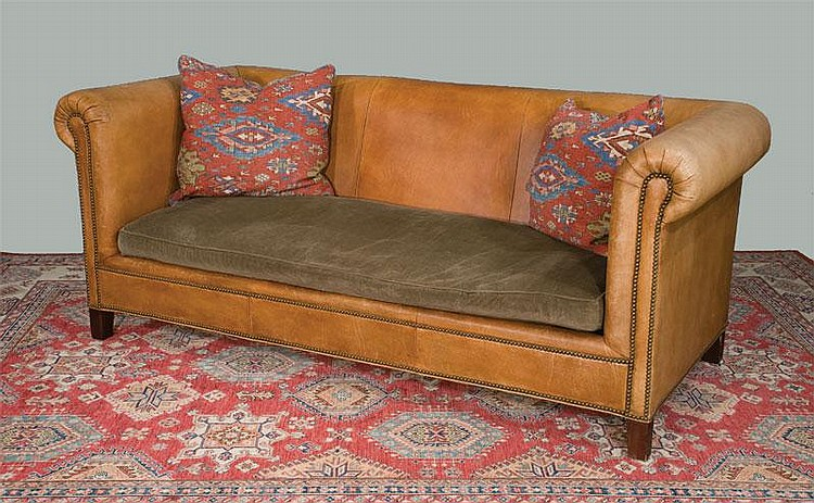 Lot 283: Henredon Chesterfield style leather sofa by Ralph Lauren with  | 750 x 463 · 134 kB · jpeg