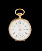 PATEK PHLIPPE MONTRE DE GOUSSET en or jaune, index, trotteuse  six heures, signe au cadran Patek Philippe & Co Poids brut : 73,4 g  A yelllow gold manual winding pocket watch