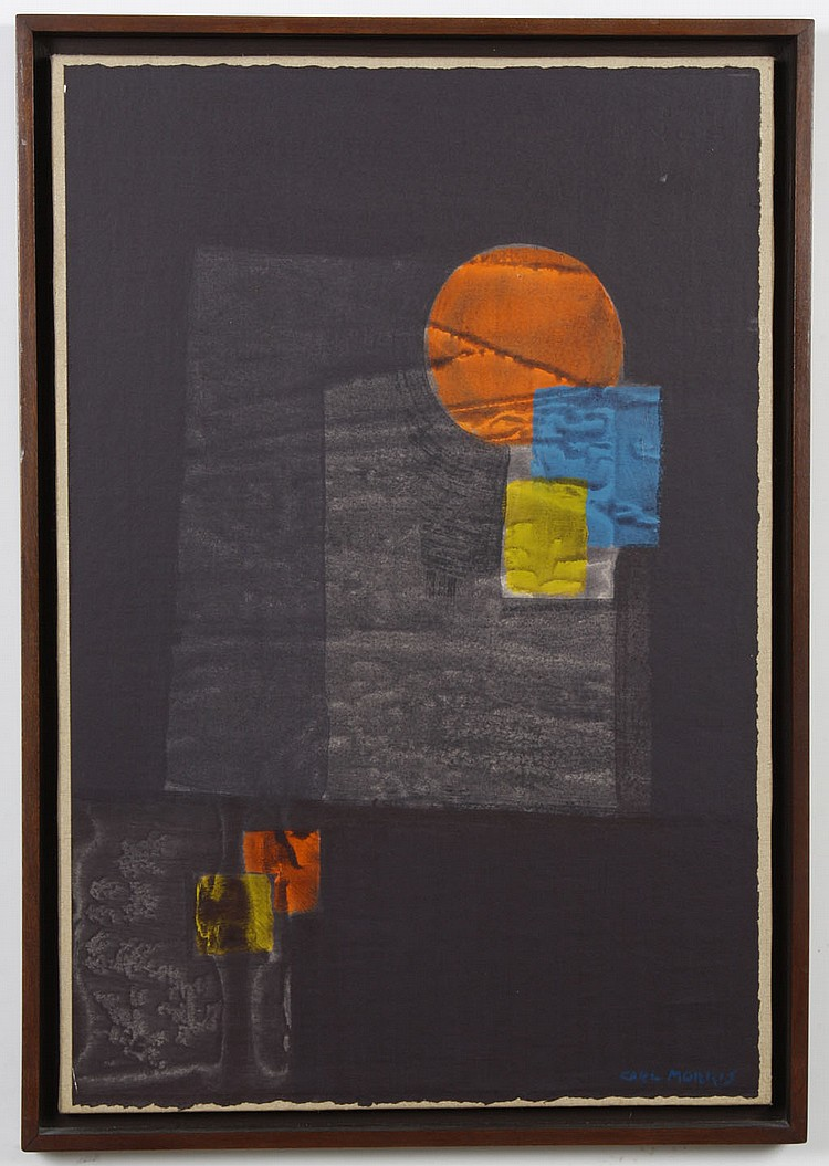 CARL MORRIS (1911-1993, OR/CA) ACRYLIC ON LINEN - Signed work from the