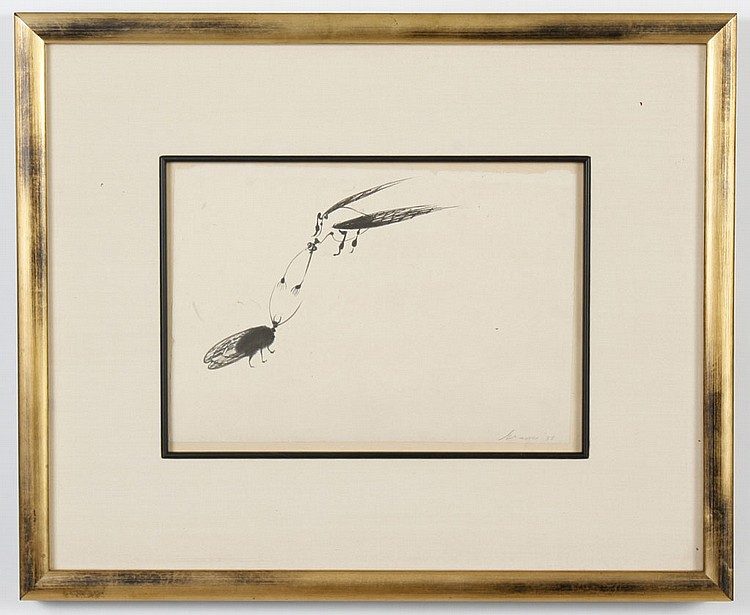 MORRIS GRAVES (1910-2001, WA) INK ON PAPER - Pencil signed to lower right. Titled 